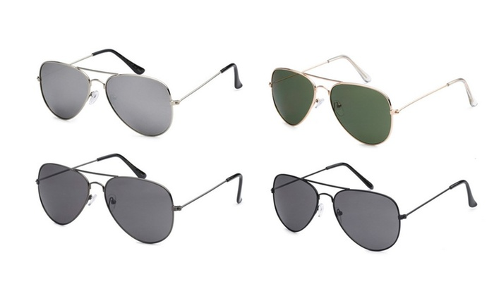 Retro Optix Men's Aviator Sunglasses (4-Pack)