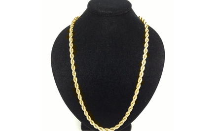 Men's Solid 10K Gold Rope Chain