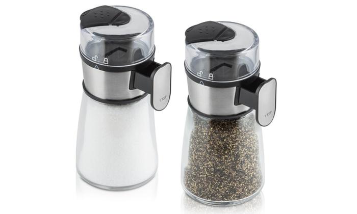 Salt and Pepper Mills: Modernhome Precision Salt and Pepper Mill Set