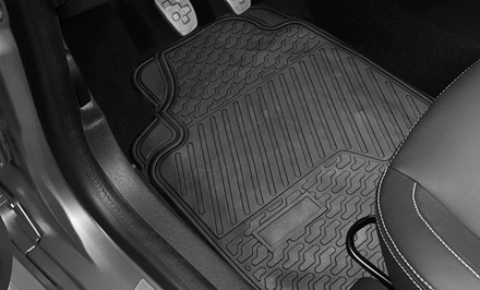 3-Piece Heavy-Duty Rubber All-Weather Floor Mats
