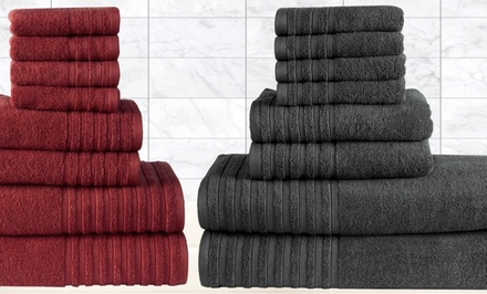 Casa Platino 8-Piece Egyptian-Cotton 600GSM Towel Set
