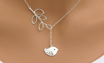 Women's Tree and Bird Necklace