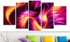 "5-Panel 60""x32"" Fractal Art on Gallery - Wrapped Canvas"