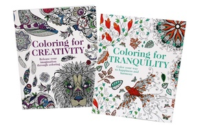 coloring for tranquility and coloring for creativity books 2 pack