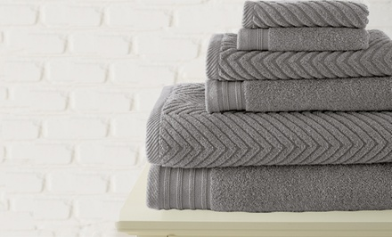 6-Piece Chevron Jacquard Towel Set