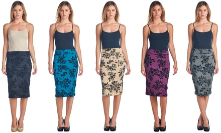 Women's Floral Pencil Skirt