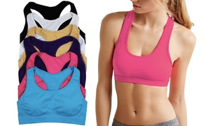 Women's Supportive Sports Bras (6-Pack)