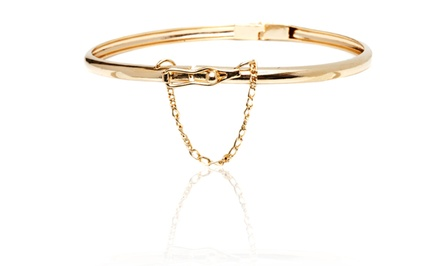 18K Gold Plated Chain Click-In Bangle