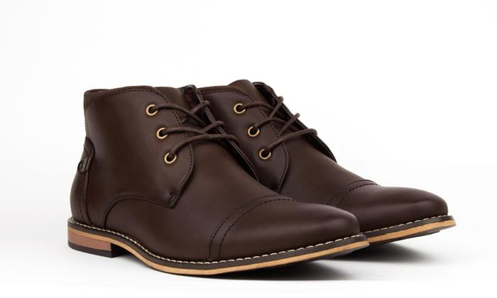 Royal Men's Cap Toe Chukka Boots