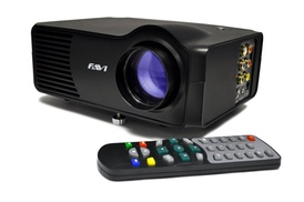 """Favi Award-winning Lcd Portable Projector With 120"""" Picture And 20,000 Hours Of Led Lamp Life"""