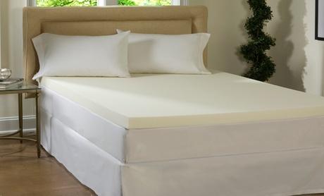 "Lux Comfort 4"" Memory Foam Mattress Topper 84b84062-df26-11e6-bdc5-002590604002"