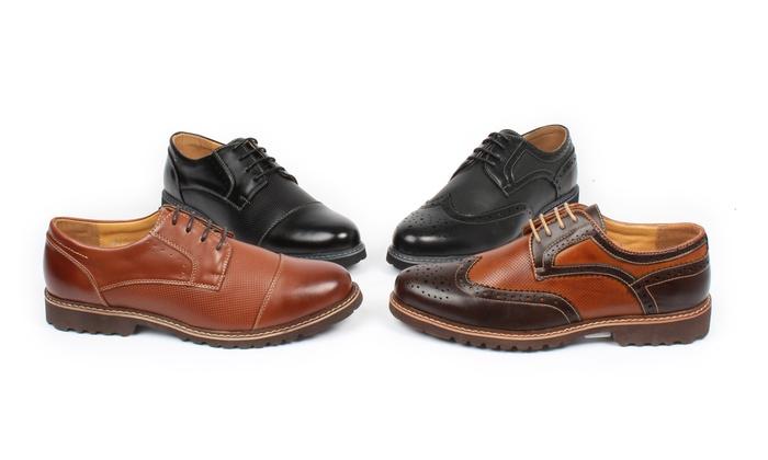 Gino Pheroni Men's Lightweight Dress Shoes