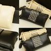Trend Matters Faux-Leather Rivet Wallet Clutch
