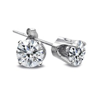 GROUPON: 1/4 CTTW Diamond Stud Earrings in 14K Gold 1/4 CTTW Diamond Stud Earrings in 14K Gold