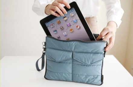 Carry-It-All Travel Case for iPad, Tablet, or E-Reader with Closure Accessory Pockets