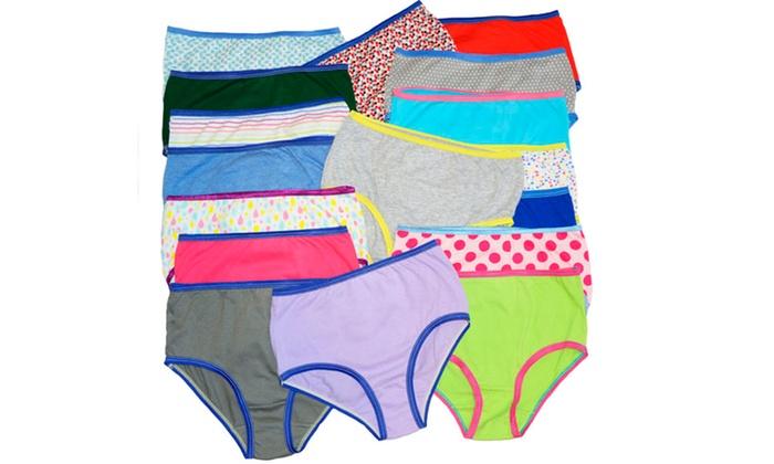Women's 100% Cotton Full-Cut Panties (12-Pack)