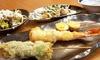 大阪府/JR野田駅前 ≪天ぷら串(3串)+むねしそマヨ焼き+サラダ+1ドリンク≫