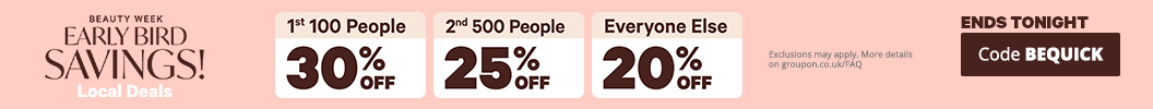 Be quick and save extra! 30% off Local for the first 100 customers, 25% for the next 500 & 20% for the rest. Use code: BEQUICK. Ends tonight. Some deals excluded.