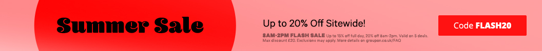 Hurry up, this discount will be gone in a flash! Use code FLASH20 and enjoy up to an extra 20% off Sitewide. Ends tonight. Some deals excluded.