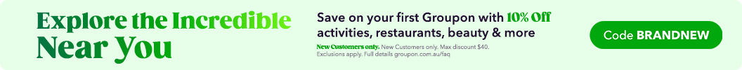 Save On Your First Groupon! 10% off a Local deal with code BRANDNEW. New customers only