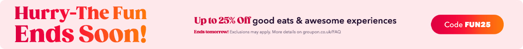 Feeling like doing something fun? Use code FUN25 and enjoy up to an extra 25% off Local. Ends tomorrow. Some deals excluded.
