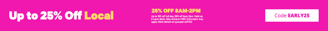 The earlier you buy, the more you save! Use code EARLY25 and enjoy up to an extra 25% off Local. Ends tonight. Some deals excluded.