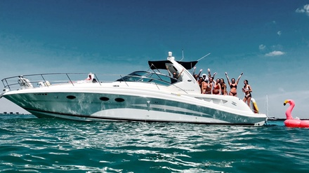 $549 for Four-Hour 45' Yacht Rental Tour and Party for Up to 13 from Dolphin Water Sport ($1,570 Value)