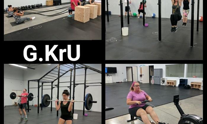 Boot camp garage kru fitness health stripped crossfit groupon