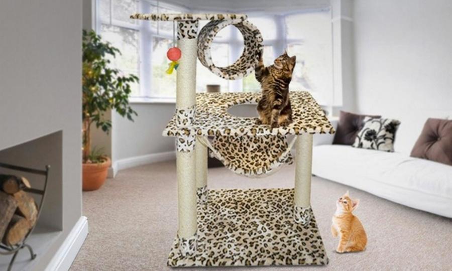 AM Mascotas: Gimnasio para gato en diseño animal print a elección con AM Mascotas. Incluye envío