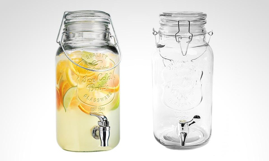 Groupon Shopping: Dispensador Mason Jar Ice para jugos e infusiones. Incluye despacho