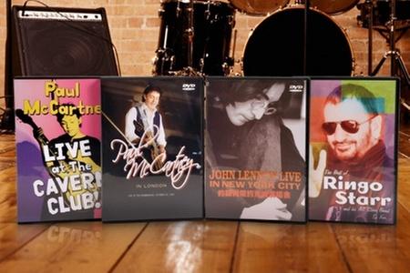 Laser Disc: $11.199 en vez de $22.540 por pack de 4 DVDs de John Lennon, Paul McCartney y Ringo Starr en Laser Disc. Incluye despacho