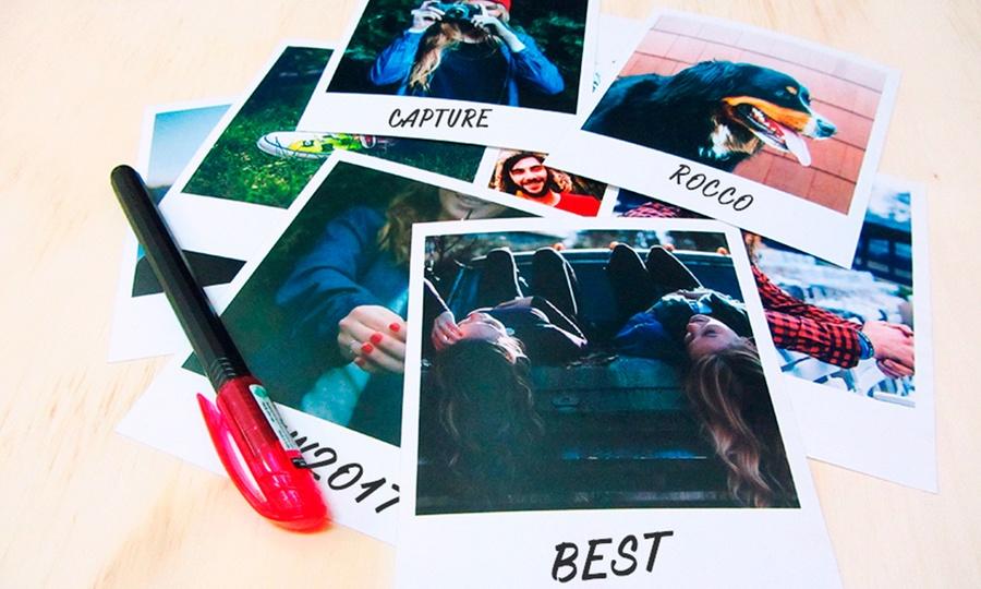 Snapshot: Desde $9.990 porrevelado digital de 50, 100, 200 o 500 fotos estilo Polaroid clásico o con diseño en Snapshot