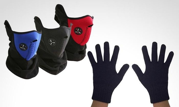 Groupon Shopping: Máscara de frío en color a elección + guantes touch. Incluye despacho