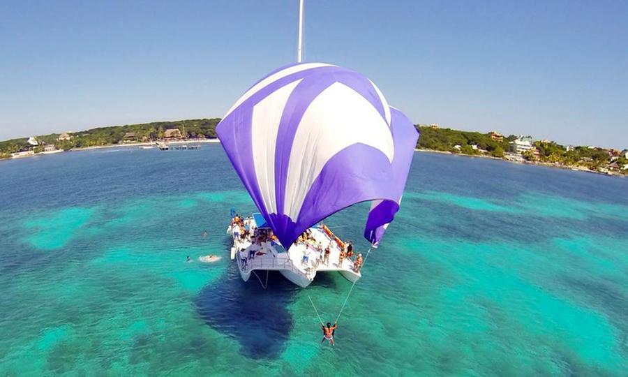 REEF EXPERIENCE: Isla Mujeres: desde $499 por tour en catamarán + snorkeling para menor o adultoen Tour Catamaran