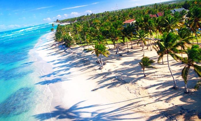Groupon Travel (República Dominicana): República Dominicana all inclusive: paga desde $539.000 por persona por 5 o 7 noches para dos en hotel 4 estrellas + traslado + aéreos. Elige ciudad de destino