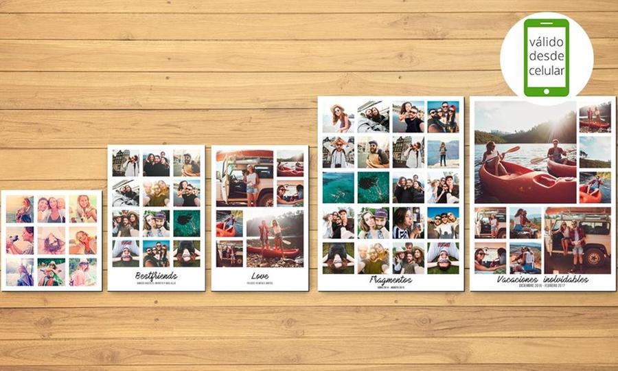 Snapshot: Collage con bastidor en tamaño a elección