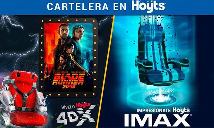 Cine Hoyts: Desde $7.490 porentrada IMAX® o 4DX + pop corn + bebida para uno o dos enCine Hoyts