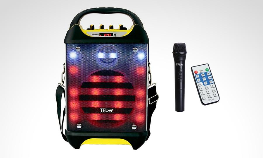 """Shopping México: Bafle Thunder 6.5"""" recargable + micrófono inalámbrico marca TFL. Incluye envío"""
