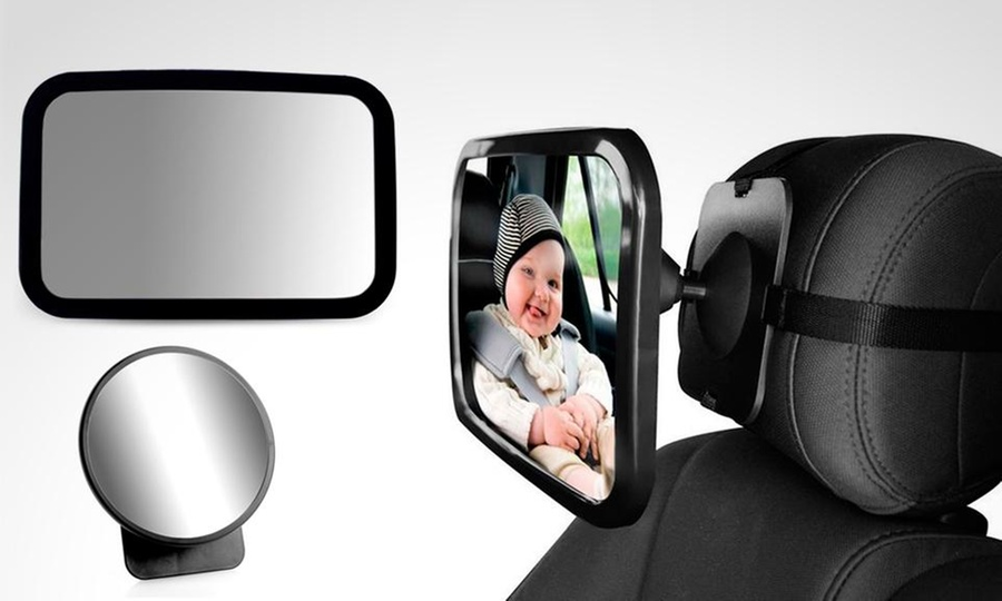 Groupon Shopping: Espejo de seguridad retrovisor ajustable para bebés en modelo a elección. Incluye despacho