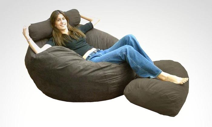 Pro Diseño: Puff 2 en 1 tamaño matrimonial + taburete para pies en color a elección con Pro Diseño. Incluye envío