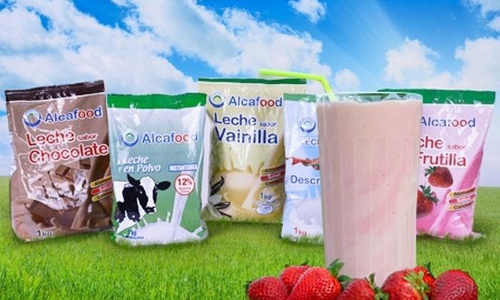 Alcafood: $9.900 en vez de $19.800 por pack de 3 leches Alcafood con sabor y tipo a elegir. Incluye despacho