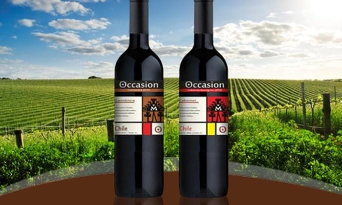 Corinto Wines: Paga desde $9.395 por 6 o 12 botellas de vino Occasion carménère o cabernet sauvignon 2010 de exportación con Corinto Wines. Incluye despacho