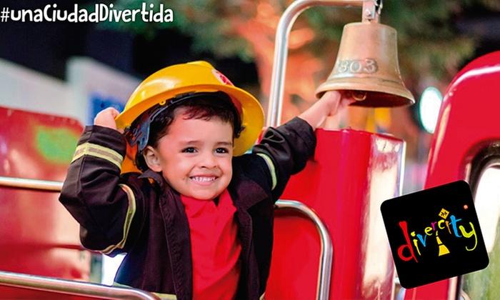 Divercity Barranquilla: Pasaporte para niño + refrigerio en Divercity Barranquilla