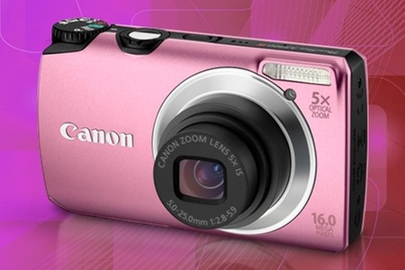 Groupon Shopping (Canon PowerShot A3300): $48.890 en vez de $82.038 por cámara Canon PowerShot A3300 color rosado con despacho