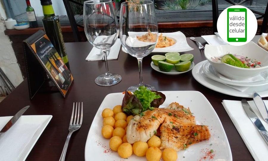 Ostras Azocar Suecia: Almuerzo o cena para dos con 2 aperitivos + 2 entradas + 2 platos de fondos + acompañamientos en Ostras Azócar Suecia. Elige día
