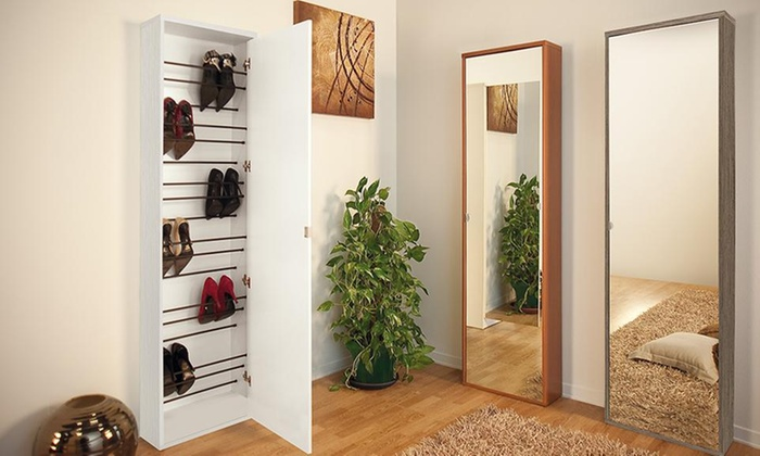 Inversiones Bonno: Zapatera con 1 o 2 puertas + espejo para 18 pares en Inversiones Bonno. Incluye armado y delivery