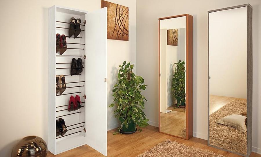 Muebles y decoraciones Bonno: Zapatera con 1 o 2 puertas + espejo para 18 pares en Inversiones Bonno. Incluye armado y delivery