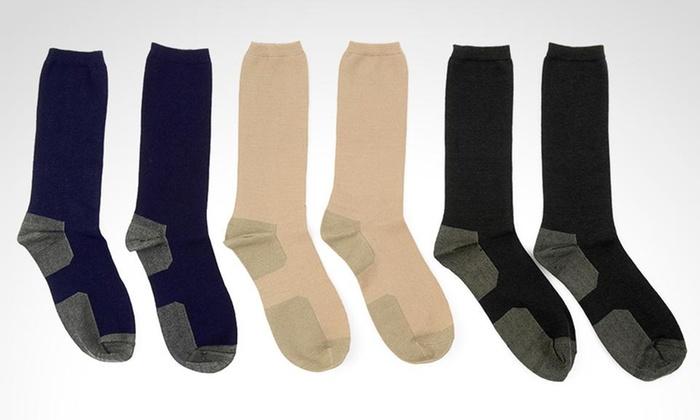 Groupon Shopping: Pack de 4 pares de calcetines de bamboo y cobre para hombre marca Donnaway en color a elección. Incluye despacho