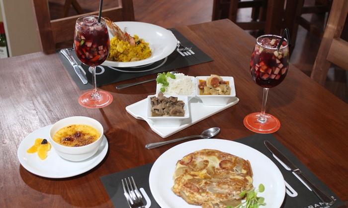 Ostreria de los Rey: Almuerzo o cena española, italiana o chilena con 2 aperitivos + degustación + 2 fondos + postrepara dos en Ostrería de los Rey