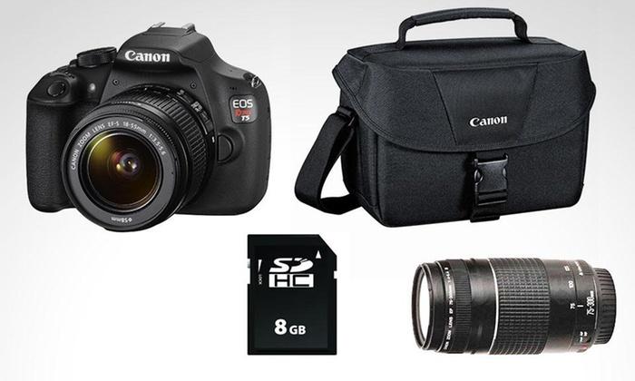 Groupon Shopping: Kit Canon EOS T5 premium. Incluye despacho